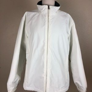 Lands End White Sport Squall Jacket  Sz 14/16
